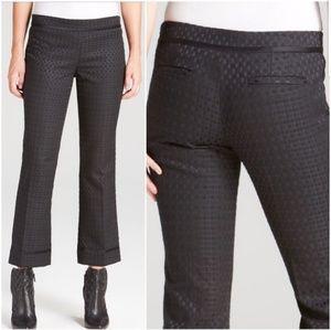 Tory Burch Madison Black Woven Crop Pants
